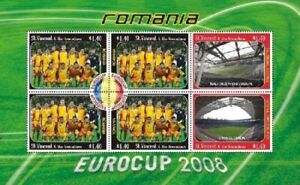 St. Vincent 2008 - SC# 3629 Eurocup Romania, Soccer - Sheet of 6 Stamps - MNH