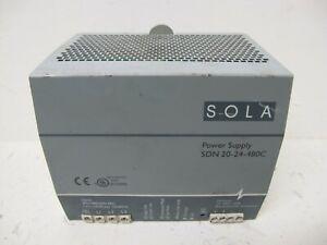 SOLA SDN 20-24-480C Power Supply PS 2024480C 24 VDC 20 Amp 3 PH 480 V 20-24-480