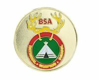 BOY SCOUT NATIONAL CAMPING SCHOOL LOGO 5 COLOR DIE-CAST COLLECTOR CHALLENGE COIN