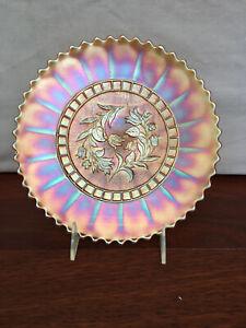MARIGOLD CARNIVAL GLASS WINDFLOWER PLATE No 6