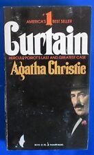 1976 CURTAIN by Agatha Christie VG 4th Pocket 80720 Paperback