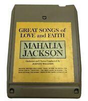 8 Track Tape GREAT SONGS OF LOVE and FAITH MAHALIA JACKSON Vintage - TESTED