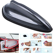 Waterproof Carbon Fiber Style Shark Fin Antenna FM Radio Signal Aerial for Car