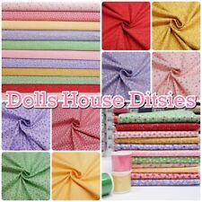 Dolls House Ditsies Mini Pretty Cottage Floral 100% Patchwork Cotton Fabric