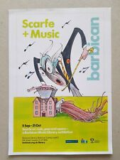 Gerald Scarfe...Printed Advert for Barbican Exhibition-London