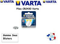Piles bouton Varta 3V Lithium CR2430 Sous Blister, Qualité Professionnelle