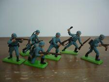 BRITAINS DEETAIL FULL SET 6 WW2 SERIES 1 GERMAN SOLDIERS