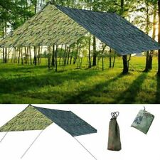 Tarp Wasserdicht Sonnensegel Hängematte Outdoor Camping Zelt Plane Zeltstangen.