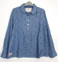 Brakeburn Pinstripe Fern Popover Tunic blouse Top - Size 8 - 18