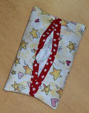 Tissue Packet Stars & Hearts Patriotic Pocket Holder Fabric Cover Handmade