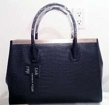 New Black Leather THOMAS WYLDE Tote Bag