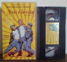 VHS FILM Ita Comico ALDO GIOVANNI & GIACOMO Cosi è la vita no dvd(VHS10)