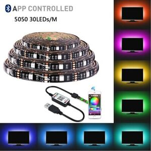 Bluetooth LED Strip 5V USB Indoor Lighting Waterproof RGB LED Light Strip 5050