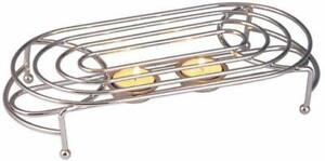 FOOD WARMER CHROME STAND TEA LIGHT CANDLE TABLE SERVING PARTY HOT WARMING PLATE