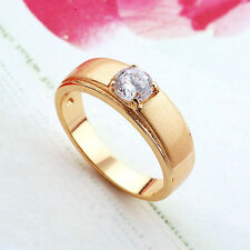 Unique 9K Real Gold Filled Top CZ Dusty  Mens Ring,Size10 F3867