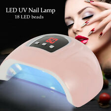 54w Professional UV GEL Nail Lamp LED Light Dryer Polish Curing 3 Timers Fast