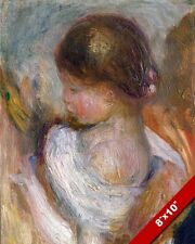 YOUNG GIRL READING A BOOK FRENCH PAINTING AUGUSTE RENOIR ART REAL CANVAS PRINT