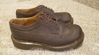 Men's Doc Martens 3989/34 AW04 England Wingtip Dark Brown Leather Shoes Size 6