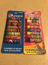 Candy & Pepsi Flavored Lip Balms - Push Pop Bottle Pop Ring Pop & Pepsi 16 Total