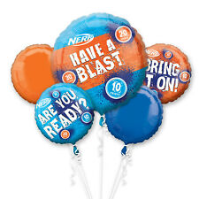 Nerf Gun Have A Blast Birthday Party Foil Balloon Bouquet Decoration 5 Pack