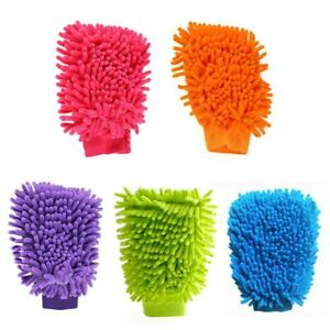 Car Wash Mitt Double Sided Microfiber Premium Scratch-Free Use Wet Dry
