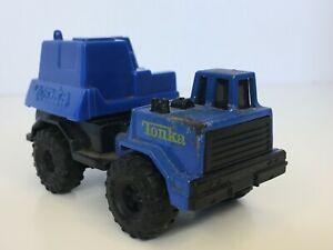 "Tonka Blue Bucket Truck Construction 3.25"" Plastic Diecast 1992 Vintage Toy Boys"