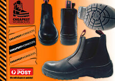 Work Boot $ 48 Cheapest SteelCap Real Leather Safety Slip On Slip Resistant Sole
