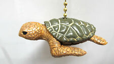Sea Turtle ceiling fan or light pull with chain Tropical home decor