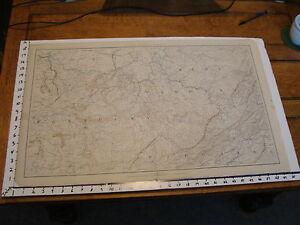 "1891 Civil War Map 18"" X 29"": Topographical Plate CXLI :CHARLESTON, CINCINNATI"