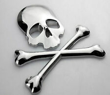 Chrome Front Hood Rear Trunk Skull Metal Logo Badge Emblem Decal Sticker for BMW