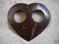 NEW COCONUT SHELL SARONG BUCKLE FASTENER CLIP TIE BEACH TOGGLE PAREO HEART / sbh