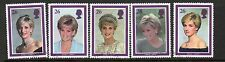 GB 1998 Diana Princess of Wales Commemoration fine used set stamps
