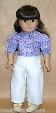 Doll Clothes fitting 18 in American Girl Dolls Off White Corduroy Slacks