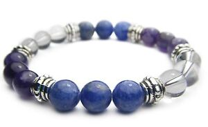PSYCHIC INTUITION (3RD EYE) 8mm Crystal Intention Bracelet - Healing Reiki Stone
