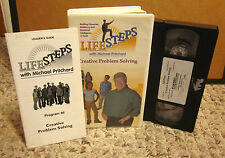 CREATIVE PROBLEM SOLVING program VHS positive solutions Michael Pritchard w book