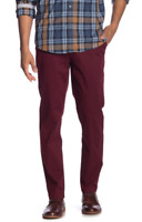 BEN SHERMAN Mens Slim Fit Stretch Chinos in Tawny Port, Size W31, L32 - ($79)