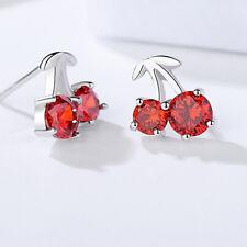 Fashion Women Lovely Ear Stud Jewelry Pomegranate Red Fruit Shape Stud Earrings