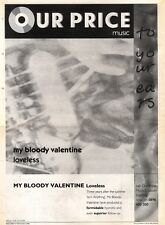 16/11/91 Pgn50 Advert: My Bloody Valentine loveless Album Out Now 15x11""