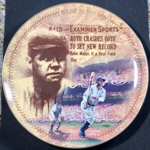 "1994 Babe Ruth Centennial ""The 60th Homer"" Plate, Bradford Exchange Ltd Edition!"