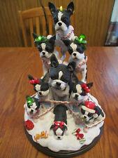 Danbury Mint Boston Terrier Family Christmas Tree