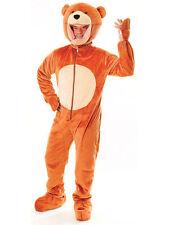 Adults Fancy Dress Giant Teddy Bear Costume Jumpsuit and Big Head Mascot (AC261)