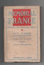Mémorial de France. Exergue du Maréchal Pétain. Sequana 1941.