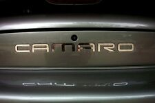 GM LICENSED, 93-02 CAMARO REAR BUMPER INSERTS FILLS LETTERS STAINLESS STEEL