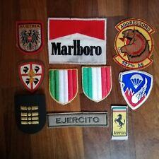LOTTO PATCH TOPPA DISTINTIVI TOPPE VARIE ESERCITO ITALIA MALBORO FERRARI