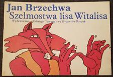 SZELMOSTWA LISA WITALISA Jan Brzechwa | Paperback 1987 | Polish book