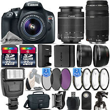 Canon EOS Rebel T6 / 1300D DSLR Camera + 18-55mm IS+ 75-300 III -64GB Kit Bundle