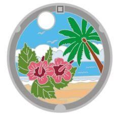 Pathtag 32916 - Palm Trees JMC - Japanese Manhole Cover