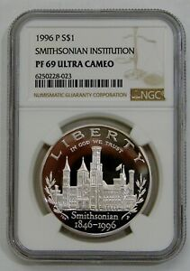 1996 P - Proof Smithsonian Commemorative Silver Dollar - NGC PF 69 Ultra Cam