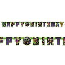 TEENAGE MUTANT NINJA TURTLES Jumbo Letter Birthday Banner Party Supplies~