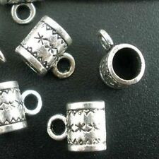 20 x Tibétain Argent Caution Bead coupe cintre 11 mm x 8 mm